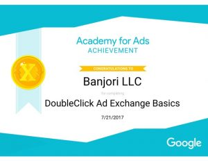 Banjori LLC Doubleclick Ad Xchange Certificate