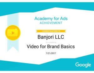 Banjori LLC Video For Brand Basics Certificate