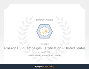 Amazon DSP Certification _ Learning console