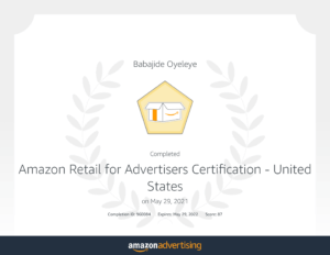 Amazon Retail for Advertisers Certification