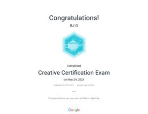 Creative Certification Exam _ Google