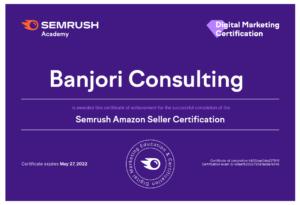SEMrush-Academy-Amazon Seller Certification
