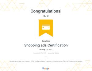 Shopping ads Certification _ Google