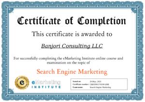 eMarketing Institute SEM-Certification